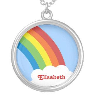 collar personalizado arco iris retro de los años 8