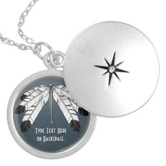 Collar personalizado collar nativo del Locket del