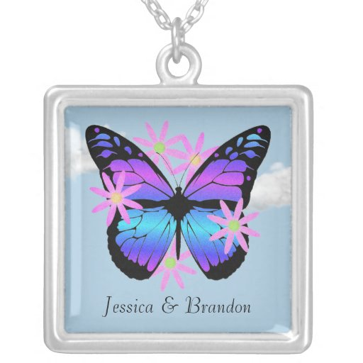 Collar personalizado de la mariposa