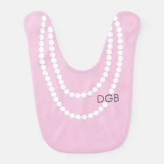 Collar personalizado de la perla del miembro de la babero de bebé