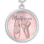 Collar personalizado del ballet, dedo del pie rosa