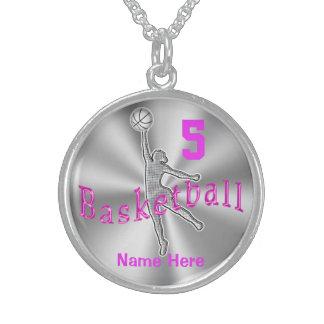 Collar personalizado del baloncesto de la plata es