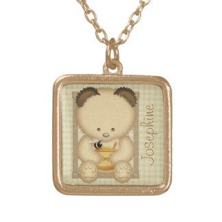 Collar personalizado del oso de miel