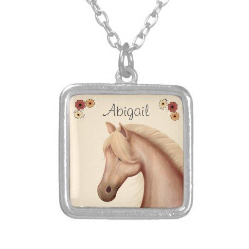 Collar personalizado del Palomino y del caballo de