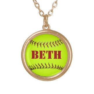 Collar personalizado del softball