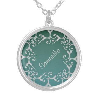Collar personalizado trullo de plata de la eleganc