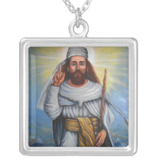 Collar plateado plata de Zarathushtra