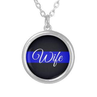 Collar plateado plata fina de la esposa de Blue Li
