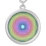 Collar psicodélico multicolor