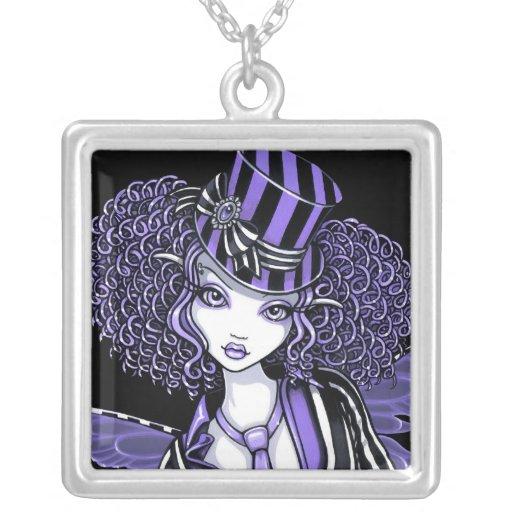 Collar púrpura de la hada de las costuras de Fiona