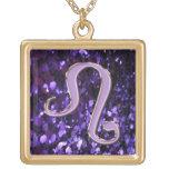Collar púrpura de la muestra del zodiaco de Leo
