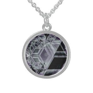 Collar púrpura de la plata esterlina de la tonalid