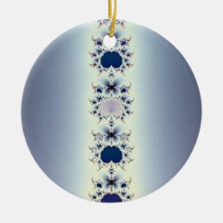 Collar púrpura adorno redondo de cerámica