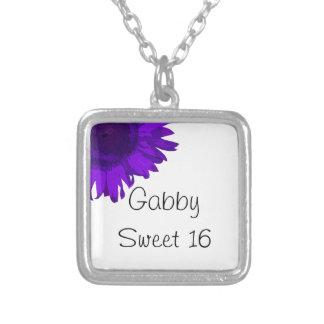 Collar púrpura del dulce 16 de la flor del arte po