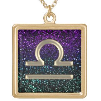 Collar púrpura del libra de la muestra del zodiaco