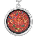 Collar redondo de Sun del arte maya antiguo del