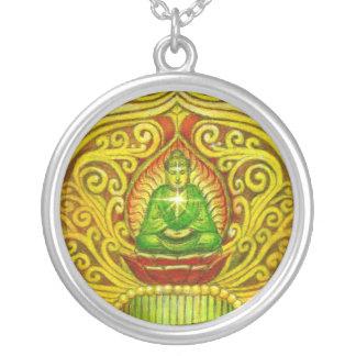 Collar redondo del arte de la meditación de Buda