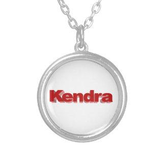 Collar redondo plateado de Kendra