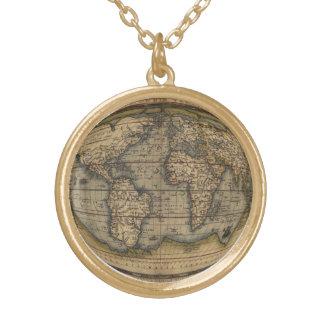 Collar retro del mapa del mundo de Ortelius
