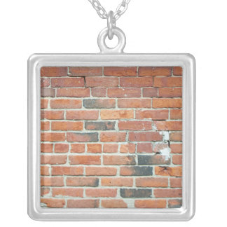 Collar rojo de la pared de ladrillo del vintage