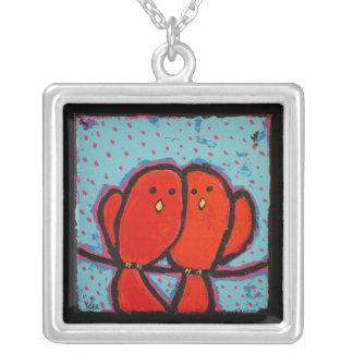 collar rojo de los lovebirds