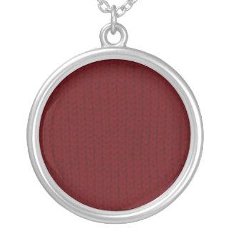 Collar rojo de Stockinette