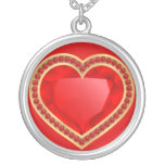 Collar rojo del corazón