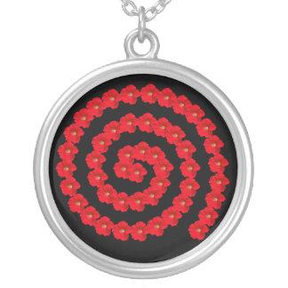 Collar rojo del espiral de la petunia