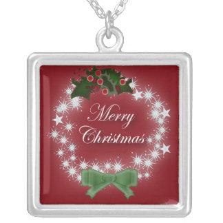 Collar rojo elegante de la guirnalda del navidad