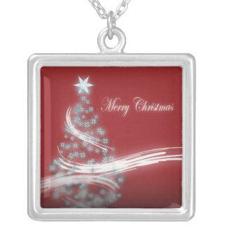 Collar rojo elegante del navidad para ella