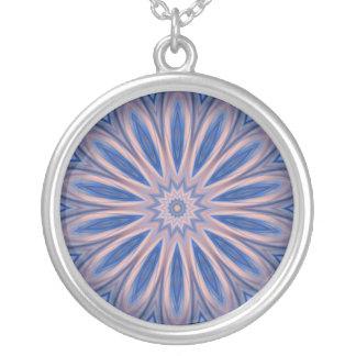 Collar rosado azul de Kscope de la meditación del