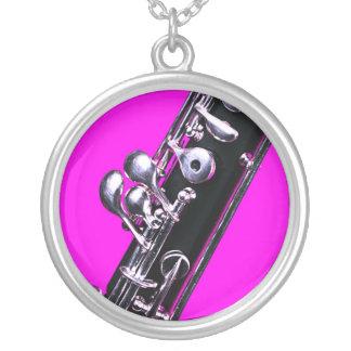 Collar rosado de la imagen del fondo de Oboe