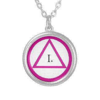 Collar rosado del símbolo del AA - año del persona