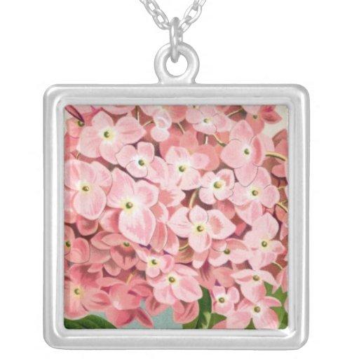 Collar rosado romántico botánico antiguo del Hydra