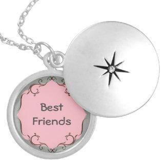 Collar rosado y gris de los mejores amigos