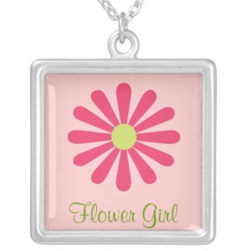 Collar rosado y verde del florista
