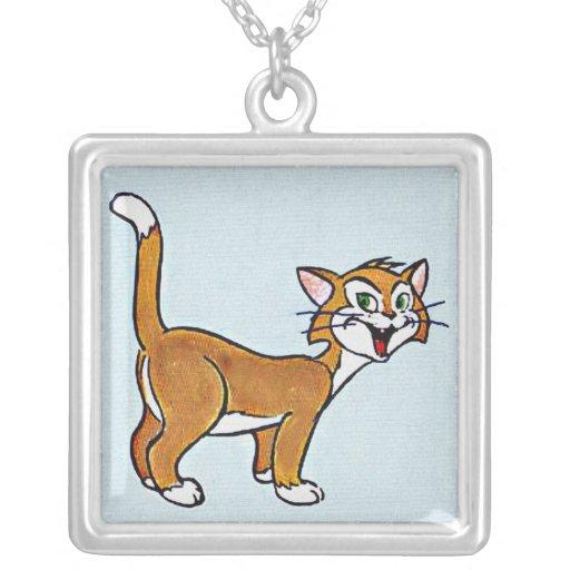 Collar sonriente lindo del gato del dibujo animado