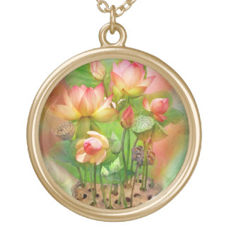 Collar usable sacro del arte de la cura Lotus Chak