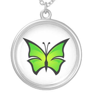 Collar verde claro de la mariposa
