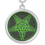 Collar verde de Baphomet Sigil