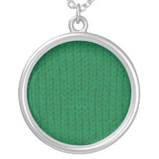 Collar verde de Stockinette