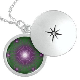 Collar verde púrpura de Fractel de la flor