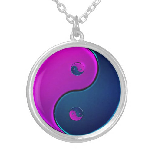 Collar violeta y de medianoche de Yin Yang
