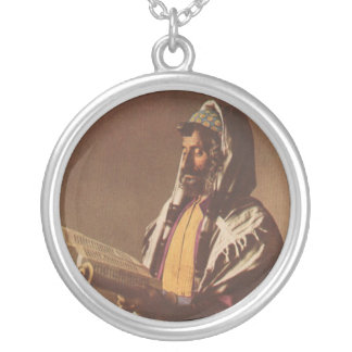 Collar yemení del arte del vintage del judío