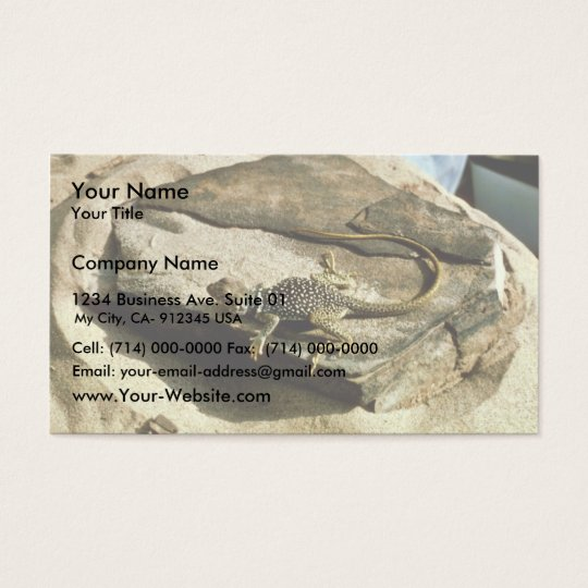 Collard lizard business card