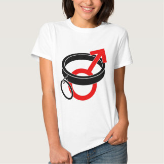 Collared male symbol. t shirt