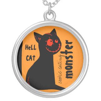 collares de Halloween del gato negro del infierno
