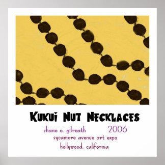COLLARES de la NUEZ de KUKUI (versión del no-haiku Posters