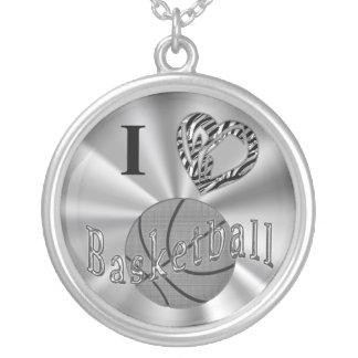 Collares de plata del baloncesto para el estampado