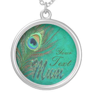 Collares del diseño del texto del teather del pavo